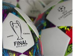 UEFA official Champions League Final balls printed with team names