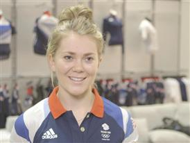 Jessica Varnish goes to adidas kitting out for London Olympics 2012 in Loughborough – B Roll IVs