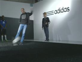 Zinedine Zidane at the adidas lab in London - General Views