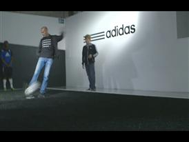 Zinedine Zidane at the adidas lab in London