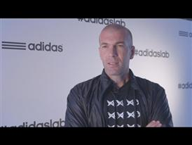 Zinedine Zidane at the adidas lab