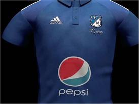 Camiseta Millonarios FC 2016 (Local)