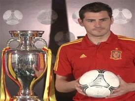 Iker Casillas launching the adidas Tango 12 Finale