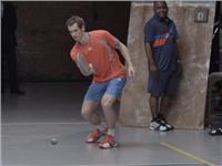 the game is the game - Andy Murray tests his new adipower barricade 7.0 in a road tennis event