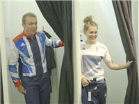 Chris Hoy goes to adidas kitting out for London Olympics 2012 in Loughborough  B Roll GVs