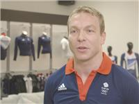 Chris Hoy goes to adidas kitting out for London Olympics 2012 in Loughborough – B Roll IVs