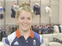Jessica Varnish goes to adidas kitting out for London Olympics 2012 in Loughborough  B Roll IVs
