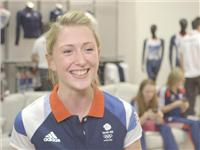 Laura Trot goes to adidas kitting out for London Olympics 2012 in Loughborough – B Roll IVs