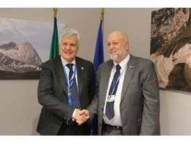 Italian Minister, Gian Luca Galletti, and the AfDB's Head of Environment and Climate Change Division, Kurt Lonsway