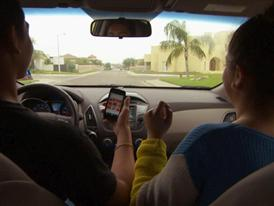 B-Roll of Teens Displaying Distracted Driving Behavior