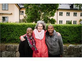 Ntombizanele Mahobe, Carole Bloch and Malusi Ntoyapi from PRAESA. Skeppsholmen May 25, 2015