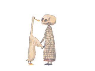 Drawing from the book Duck, Death and the Tulip ( Ente, Tod und Tulpe)
