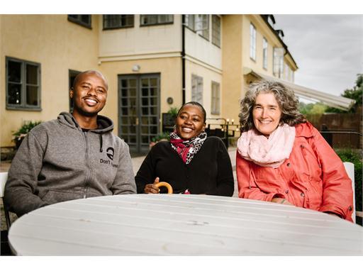 Malusi Ntoyapi, Ntombizanele Mahobe and Carole Bloch from PRAESA. Skeppsholmen May 25, 2015