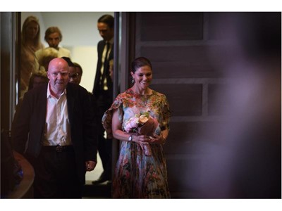 Wolf Erlbruch and Swedish crown princess Victoria