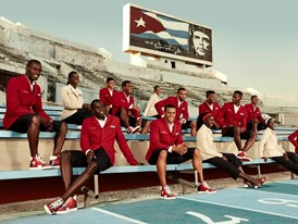 Cuban Athletics Team at Estadio Panamericano, Cuba, in Christian Louboutin X SportyHenri.com © Rene Habermacher