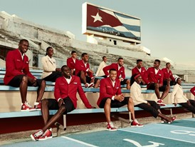 Cuban Athletics Team at Estadio Panamericano, Havana, Cuba, in Christian Louboutin X SportyHenri.com © Rene Habermacher