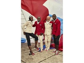 Cuban Team Members Lidianny Echevarria Benitez and Javier Cortina Lacerra with Tai and Louboutin © Rene Habermacher