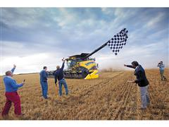 New Holland Agriculture, a Brand of CNH Industrial, Sets New GUINNESS WORLD RECORDS™ Title for Most Wheat Harvested Within Eight Hours By a Combine