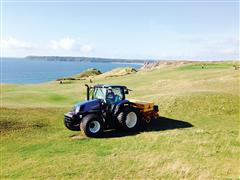 T6 Drives Off for Quick Round of Seed Drilling at Pennard Golf Course