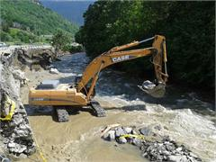 Case equipment helps to rebuild local communities following European floods