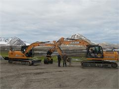 Case Excavators Help To Map The World's Rotation