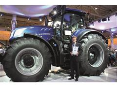 The New Holland Agriculture T7.315 tractor is a 2016 Machine of the Year