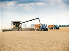 New Holland Agriculture smashes the current GUINNESS WORLD RECORDS™ title for most wheat harvested within eight hours with the CR10.90 combine