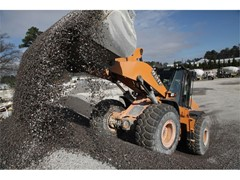 Larger Wheel Loader Keeps Pace with Plant and Haul Trucks at Augusta Ready Mix