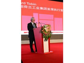 CNH Industrial CEO Richard Tobin speaks at the inauguration of new agricultural equipment manufacturing complex in China