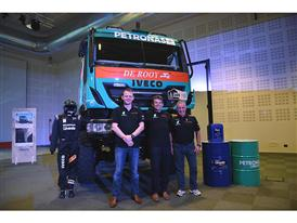 Dakar 2015 Team PETRONAS DEROOY Iveco at CNH Industrial Village