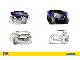 Student sketch of an agricultural all-terrain vehicle concept