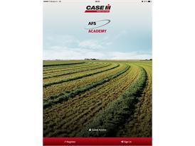 Case IH AFS Academy App - Start Page