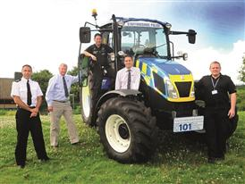 The New Holland T5 tractor helps Staffordshire Police tackle countryside crime