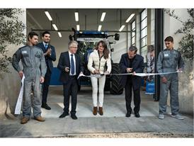 The ribbon cutting ceremony for the new CNH Industrial - Salesian training program in Rome, Italy