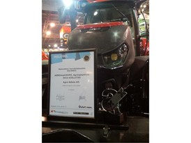Award for Case IH Optum CVX at Agromaschexpo 2016