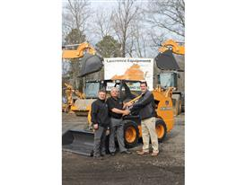 Lawrence Equipment presents Mel Hankes with his new SV280 skid steer