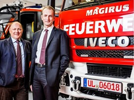 left: Andreas Klauser, Brand President Case IH and Steyr right: Marc Diening, CEO Magirus