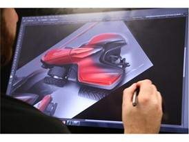Advanced design sketch for the Case IH Magnum Autonomous Concept Tractor