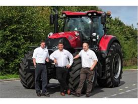 Precision Farming Specialists Ross MacDonald (left), Shaun Price (center) and John Downes