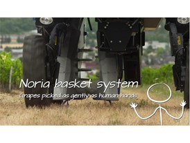 The Noria Baskets on New Holland Agriculture's grape harversters