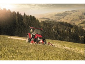 Multicontroller concept comes to Farmall C which enables even more efficient control, here with a butterfly mower