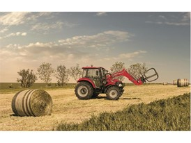 Case IH Farmall 95C. The ideal loader tractor moving bales