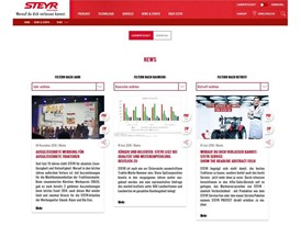 New STEYR Wesbite News Page