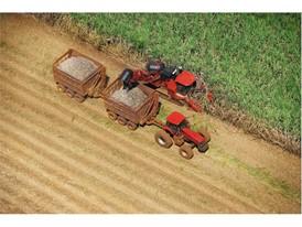 Case IH machinery at work during sugarcane harvest