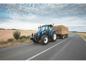 The new T5 tractor conducting transport activities