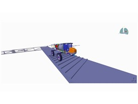 Simulation of agricultural machinery