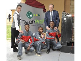 CNH Industrial and FPT Industrial representatives with TechPro2 students