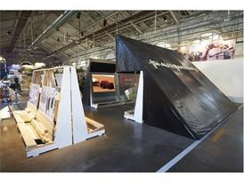 Concept Autonomous Tractor technology and design from CNH Industrial Si Automatique Exhibit Biennale