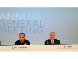 CNH Industrial Chairman Sergio Marchionne and CEO Richard Tobin at AGM