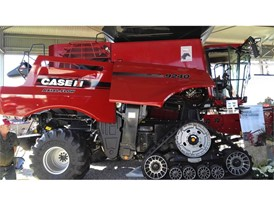 Case IH Axial-Flow Combine at the NAMPO Show 2017